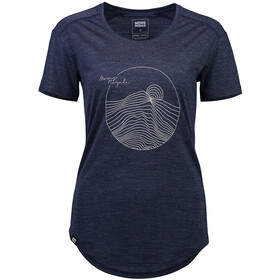 Mons Royale Hillary Hike Tee Women navy